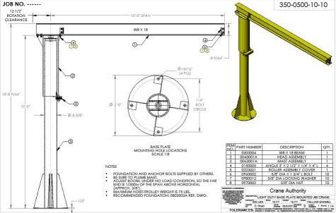 Jib cranes overhead crane blog for Shop hoist plans